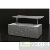 Modern Gray Lacquer Coffee Table - 848CT