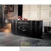A&X Ovidius Modern Black Crocodile Lacquer Buffet