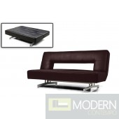 Divani Casa Wilshire - Fold-Out Espresso Leatherette Sofa Bed