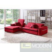 Divani Casa 1201 - Modern Fabric Sectional Sofa