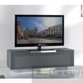 Modrest Bergamo - BG422-ANM Modern Metallic Grey TV Stand Made in Italy