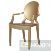 Modern Louis Ghost Gold Chair