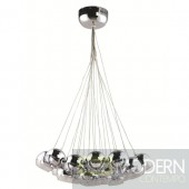 VIZO 12 Bulb Clear Bouquet Glass Cup Pendant Light