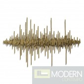 Gold FREQUENCY Wall Art gold