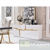 Oslo Modern White & Gold Buffet