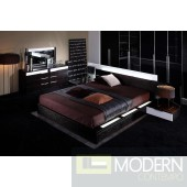 Modrest Gamma Modern Platform Bed with Air-Lift Storage