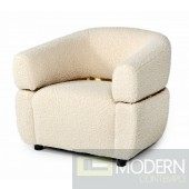 Swiss Glam Beige Fabric Chair