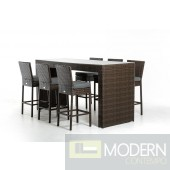 Renava Genua Modern Outdoor Bar Table Set