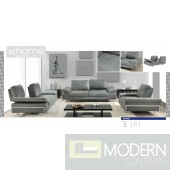 Gia - Modern Full Italian Leather Loveseat & Armchair