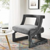 Adriel Velvet Lounge Chair GREY