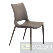 Arcadia Dining Chair grey and walnut