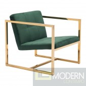 Alt Green Velvet Arm Chair by ZUO LOCAL DMV DEALS