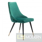 Piccolo Green Velvet Dining Chair (Set of 2) by ZUO  LOCAL DMV DEALS