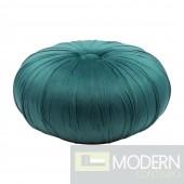 Jasmine Bun Velvet Ottoman Green
