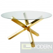 Kadu-GOLD Hand Polised Stainless Steel  Base Round  Dining table