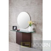 Modrest DeVille - Modern Wenge Oak Console and Mirror Set