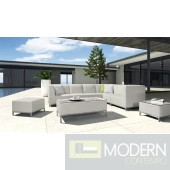 Renava H70 - Modern Patio Light Grey Sectional Sofa Set