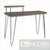 Hanh Desk w/ Left Shelf in Grey