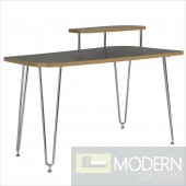 Hanh Desk w/ Right Shelf in Grey