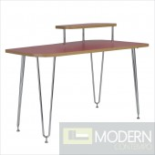 Hanh Desk w/ Right Shelf in Red