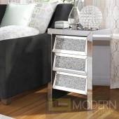 "Hollywood Collection 17.5"" Crystal Bedside Table"