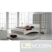 Zuritalia Modern Contemporary Queen Oasis Leatherette Platform Bed
