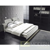 ZURITALIA MODERN CONTEMPORARY QUEEN JOS LEATHERETTE PLATFORM BED