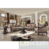 Messina Luxury Victorian Sofa, Love Seat & Chair 3 Piece Traditional Living Room Set HD09
