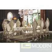 EMELIA 9 Piece Victorian Style Dining table Set in Buttermilk