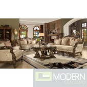 Luxury Victorian Sofa, Love Seat & Chair 3 Piece Traditional Living Room Set MCHD-1609