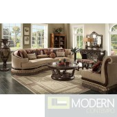 Luxury Victorian Sofa, Love Seat & Chair 3 Piece Traditional Living Room Set MCHD-1629