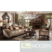 Luxury Victorian Sofa, Chair 2 Piece Traditional Living Room Set MCHD-1632