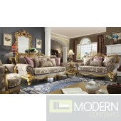 Luxury Victorian Sofa, Loveseat, and Chair 3 Piece Traditional Living Room Set MCHD-1634