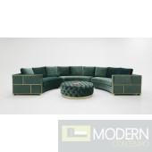Positano Modern Green Velvet Circular Sectional Sofa