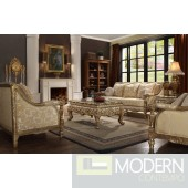 Sanremo Luxury Victorian Sofa, Love Seat & Chair 3 Piece Traditional Living Room Set HD205