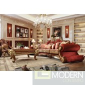 Parga Upholstery Living Room Set Victorian, European & Classic Design Sofa Set