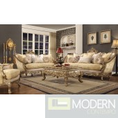 Luxury Victorian Sofa, Loveseat, and Chair 3 Piece Traditional Living Room Set MCHD-2626