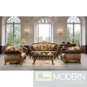 Monza Leather & Fabric Traditional Sofa Set Formal Living Room Furniture MCHD26