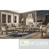 Luxury Victorian Sofa, Love Seat & Chair 3 Piece Traditional Living Room Set MCHD-303