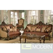 Traditional Luxury Leather Formal Living Room Sofa Set  MCHD3311