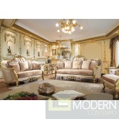 Jasmine Upholstery Living Room Set Victorian, European & Classic Design Sofa Set HD663