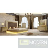 5Pc Magnolia Luxury Victorian Bedroom with LED Set HD918
