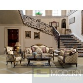 2PC Formal Luxury Sofa and Love Seat Traditional Living Room Set ZHD385