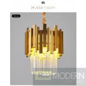 Hypnotic Modern Gold Small Round Crystal Chandelier