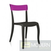 Transparent purple back, black seat