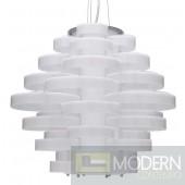 Nuevo Jacques Single Bulb Pendant Lamp - White