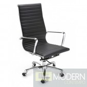 Modern Conference Office Chair High Back, Black