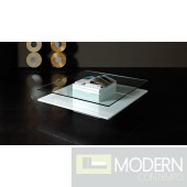 Modrest Emulsion - Modern White Glass Coffee Table