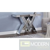 Venice console Table, Mirrored, Faux Diamonds and Clear Glass