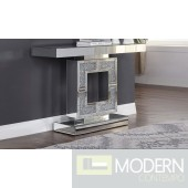 Anna Maria  Console Table in Mirrored and Faux Diamonds